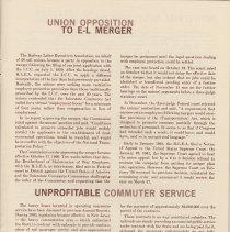 Image of pg 13: Union Opposition to E-L Merger; Unprofitable Commuter Service