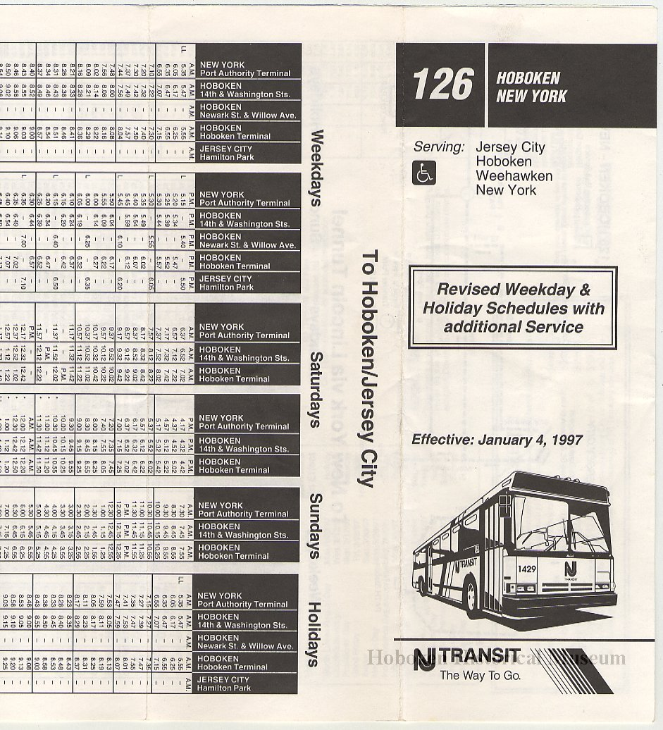 Nj Transit Bus Schedules Examples And Forms