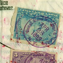 Image of detail of revenue stamps