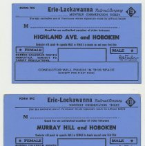 Image of examples 1 + 2: Highland Ave; Murray Hill; no punch or stamp