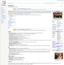 Image of Screen capture of Wikipedia entry for Cake Boss as present April 12, 2011.  - Monograph