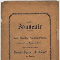 Image of Program: Souvenir. Erste Daemlich Carnveval-Sitzung; Dec. 11, 1904; Odd Fellows Hall, 412-414 Washington St. - Program, Concert