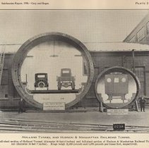 Image of Plate 5: Full-sized sections of Holland Tunnel + Hudson & Manhattan R.R.