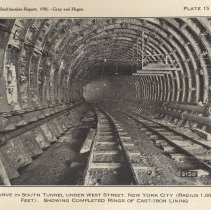 Image of Plate 15: Curve in South Tunnel under West Street, New York City