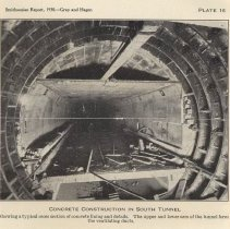 Image of Plate 16: Concrete Construction in South Tunnel