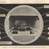 Image of Plate 17: Model of Holland Tunnel Showing Many of the Hidden Details
