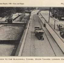 Image of Plate 19: Approach to Blackwall Tunnel, River Thames, London