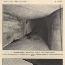 Image of Plate 21-1: Fresh-Air Duct, S. Tunnel, N.J. Side; 21-2: Tile & Bronze Work