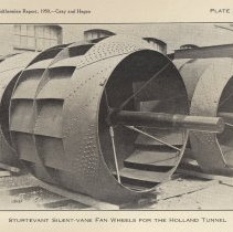 Image of Plate 25: Sturtevant Silent-vane Fan Wheels for the Holland Tunnel
