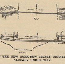 Image of detail pg 231 of Profile and Plan of the New York-New Jersey Tunnel
