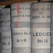 Image of Ledgers: Hudson Trust Company, Hoboken, N.J., trust accounts, 13 vol., various years 1908-1925.  - Ledger