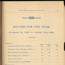 Image of pg 17 Record for the Year, Nov. 1, 1890 to Oct. 31, 1891