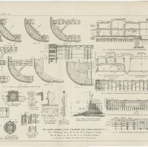 Image of double-page fold-out plate with several Figures