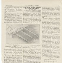 Image of Article: The New Fireproof Piers of the North German Lloyd Steamship Co. at Hoboken; in Engineering News, Vol. XlV, No. 1, Jan 3. 1901. - Article