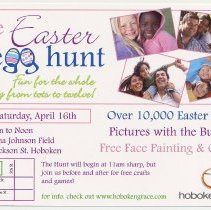 Image of Announcement: Easter Egg Hunt, Apr. 16, 2011, Mama Johnson Field, 4th & Jackson Sts., Hoboken.  - Card, Advertising