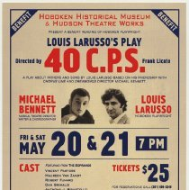 Image of Postcard: 40 C.P.S. Benefit reading of Louis LaRusso II play; May 20-21, 2011; Burchard Auditorium, Hoboken. - Postcard