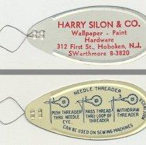 Image of Needle threader from Harry Silon & Co., 312 First St., Hoboken, N.J. N.d., ca. 1950-1963.  - Threader