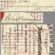 Image of details: signatures  - Fagan; receivership inkstamp