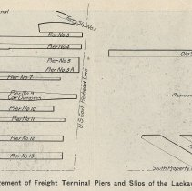Image of detail pg 28: Present & Proposed Arrangement of Freight Terminal Piers