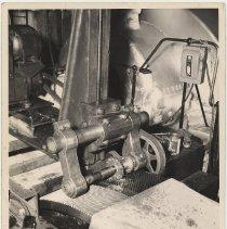 Image of B+W photo of S.S. President Coolidge (2) engine room, Bethlehem Steel Shipyard, Hoboken, Dec. 24, 1957. - Print, Photographic