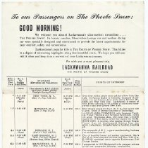 Image of side 2, schedule / itinerary, full page