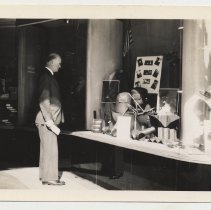 Image of B+W photo of a Hoboken YMCA welding class display at Geismar Shop, Hoboken, n.d., Sept. 1941.  - Print, Photographic