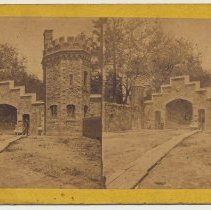 Image of Stereoview: American Scenery. Hoboken. [Stevens Castle, Gatehouse.] No publisher, n.d., ca. 1890-1920. - Stereoview