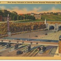 Image of front: New Jersey Entrance to Lincoln tunnel between Weehawken and New York