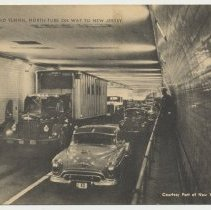 Image of Postcard: Holland Tunnel North Tube on Way to New Jersey. N.d., ca. late 1940s.  - Postcard