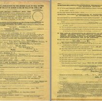 Image of Post Office application form pp 1 + 2, Hoboken, Dec. 10, 1946