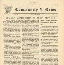 Image of Vol 1, No. 6 [second series], May 10, 1947, pg [1]