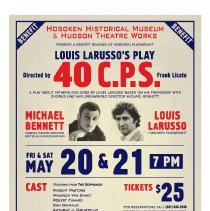 Image of Program: 40 C.P.S. Benefit reading of Louis LaRusso [II] play; May 20-21, 2011; Burchard Auditorium, Hoboken. - Program
