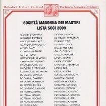 Image of pg [3] Societa Madonna Dei Martiri Lista Soci 2009