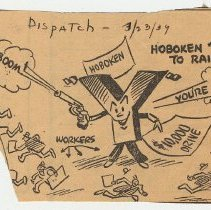 Image of 3: (cartoon) Hoboken 'Y' Opens Drive to Raise $10,000; March 23, 1939