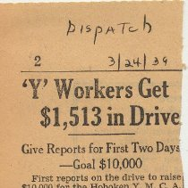 Image of 5: 'Y' Workers Get $1,513 in Drive; March 24, 1939
