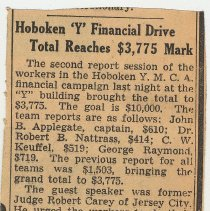 Image of 6: Hoboken 'Y' Financial Drive ... $3,775 Mark; March 31, 1939