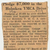 Image of 8: Pledge $7,000 in the Hoboken YMCA Drive; April 19, 1939