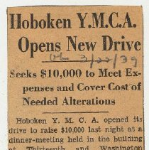 Image of 1: Hoboken YMCA Opens New Drive; March 22, 1939