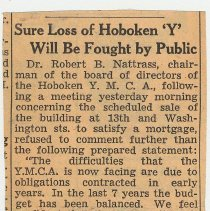 Image of 2: Sure Loss of Hoboken 'Y' Will Be Fought by Public; June 19, 1941