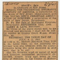 Image of 3: [legal notice] Sherriff's Sale; July 7, 1941