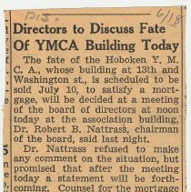Image of 1: Directors to Discuss Fate of YMCA Building Today; June 18, 1941