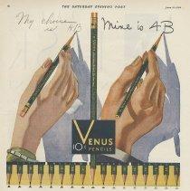 Image of Venus Pencils, Saturday Evening Post, June 21, 1930