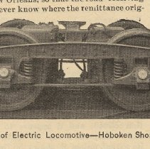 Image of detail left photo: Truck of Electric Locomotive [side view]