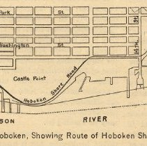 Image of detail lower left: Map of Hoboken, Showing Route of Hoboken Shore Road