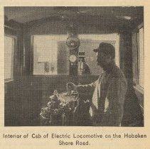 Image of detail photo right: Interior of Cab of Electric Locomotive ...