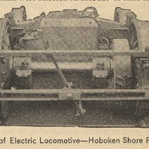 Image of detail right photo: Truck of Electric Locomotive [end view]