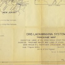 Image of Erie-Lackawanna [Railroad / Railway] System Trackage Map. Nov. 11, 1963. Office of Chief Engineer. Rev. to Dec. 9, 1965. - Map