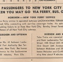 Image of detail bot pg 6: Passengers to N.Y.C. From Hoboken ...Go Via Ferry, Bus, or