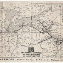 Image of pp [8-9] route map: Delaware, Lackawanna & Western Railroad