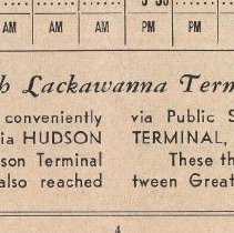 Image of detail text box bottom pg 4: How to Reach Lackawanna Terminal, Hoboken